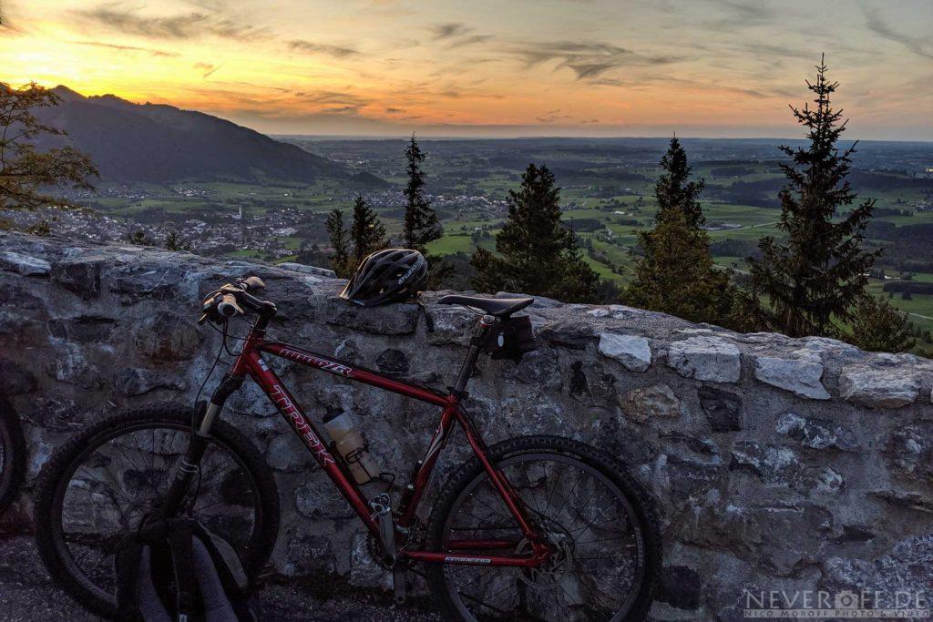 Sonnenuntergang am Falkenstein