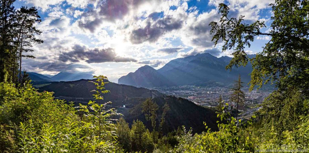 Abendstimmung über Innsbruck